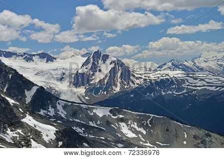 Snow covered Mountain Peaks, Whistler, Canada