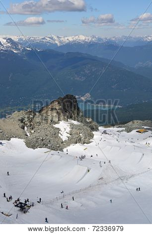 VANCOUVER, CANADA JULY 10: View of the Ski slope on July 10, 2014 From Whistler