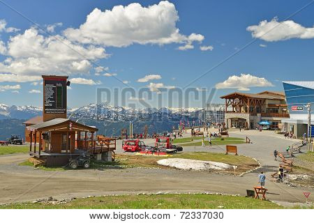 VANCOUVER, CANADA JULY 10: View of Whistler mountain top on July 10, 2014 From Whistler.