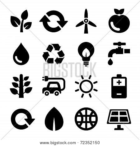 Ecology and Recycle Icons Set. Vector