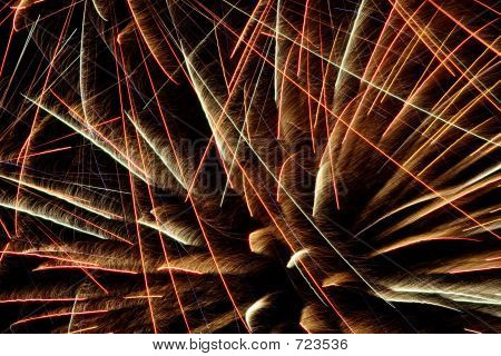 Exploding colorful fireworks against a night sky poster