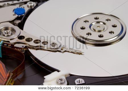 Close-up Inside Hard Disk Drive