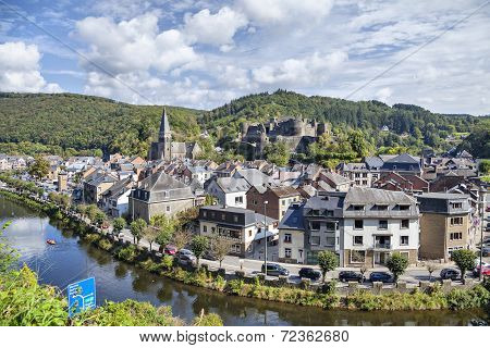 View From Hill On Belgian City La Roche-en-ardenne