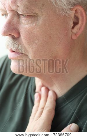 Man With Breathing Difficulty