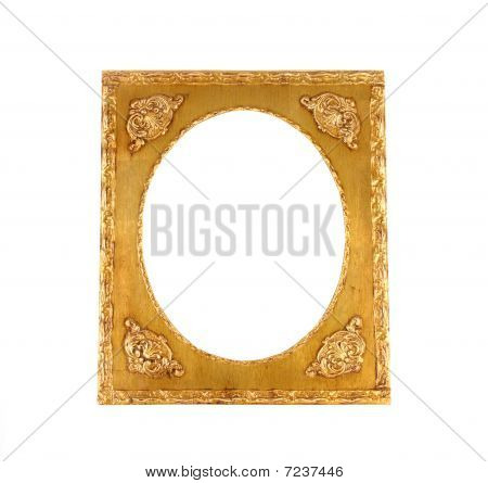 Gold Frame with Oval Center