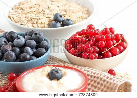Healthy Breackfast  - Fresh Berries And Naturall Yogurt Or Sour Cream