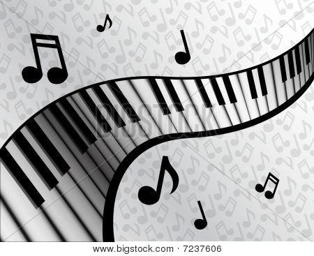 Piano Key Ribbon