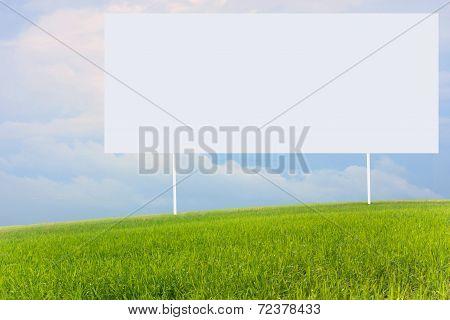 empty Soccer Scoreboard on a hill