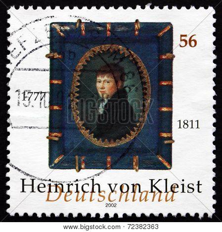 Postage Stamp Germany 2002 Heinrich Von Kleist, Writer
