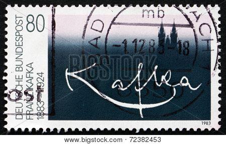 Postage Stamp Germany 1983 Franz Kafka, Writer