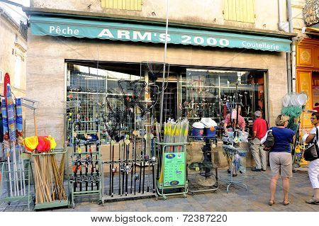 Shop Item Fishing In Aigues-mortes Street