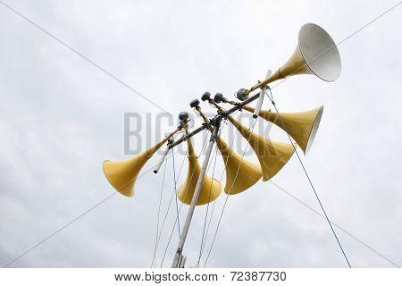 Large Yellow Loudspeaker System