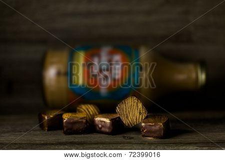 Gourmet tasty Bhakti chai tiger chocolate truffles. poster
