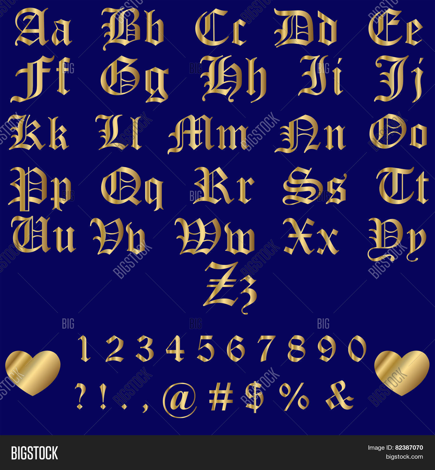 Old English Gold Vector Photo Free Trial Bigstock