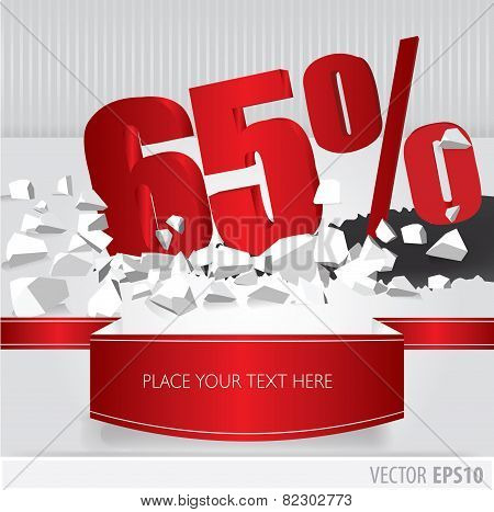 Red 65 Percent Discount On Vector Cracked Ground On White Background