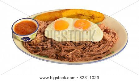 Typical Colombian meal from the city of Medellin. poster