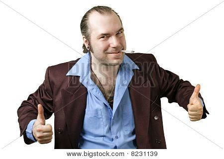 Sleazy Guy Two Thumbs Up