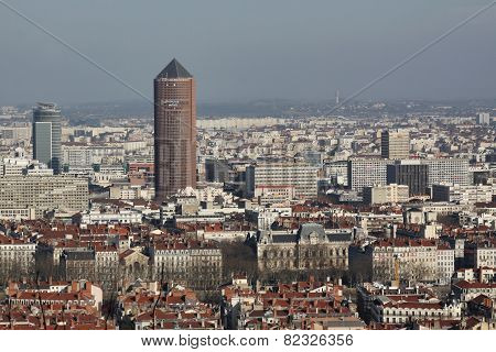 View of Lyon from the basilica of Fourviere
