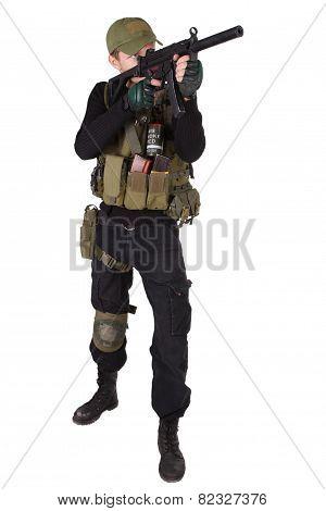 Mercenary With Mp5 Submachine Gun