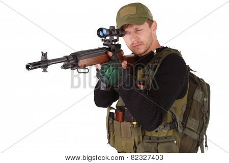 Mercenary With M14 Sniper Rifle