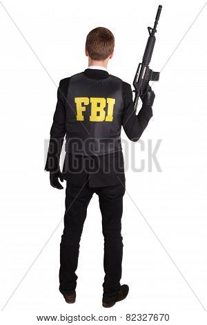 Fbi Agent With Rifle