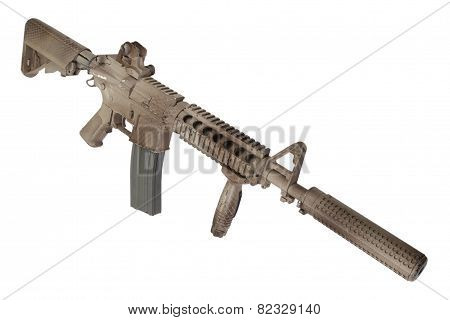 Assault Rifle With Suppressor  - Special Forces Rifle poster