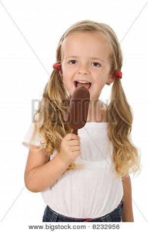 Little Girl Eating Icecream