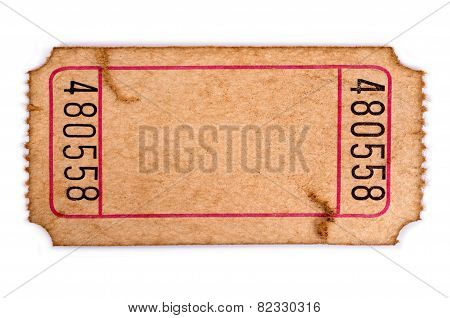 Stained Blank Admission Ticket