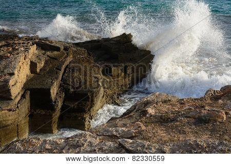 Breaking Wave In Ses Covetes