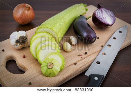 Vegetables On A Board