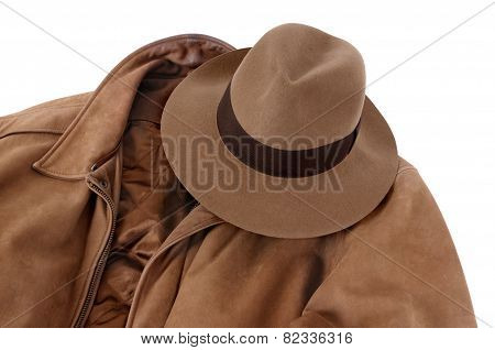 Fedora And Calfskin Jacket