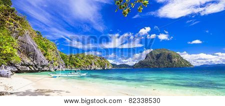tropical scenery of Palawan, Philippines poster