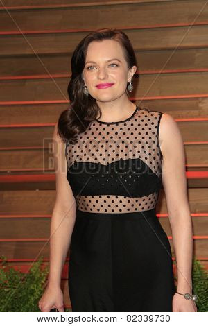 WEST HOLLYWOOD - MAR 2:: Elisabeth Moss at the 2014 Vanity Fair Oscar Party on March 2, 2014 in West Hollywood, California