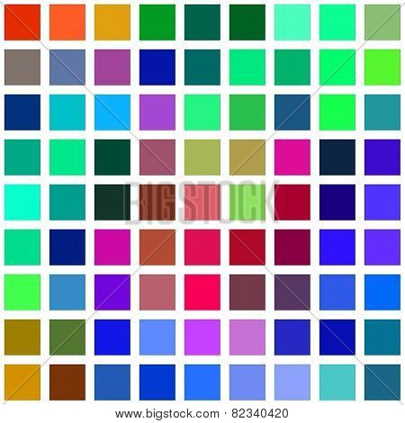 Color square blocks on a white background illustration.