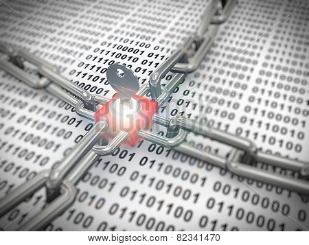 3D Locked Secured Binary Data
