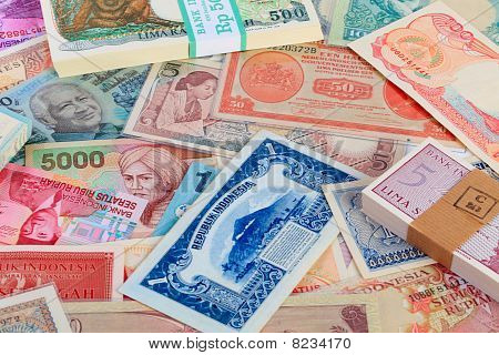 Colorful Indonesian Currency