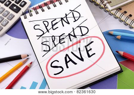 Spending And Saving Message