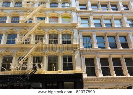Soho buildings facade in Manhattan New York City NYC USA poster