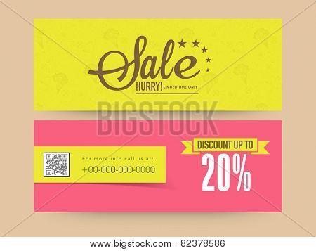Limited time sale website header or banner set with discount offer. poster