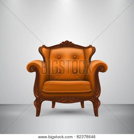 Retro chair orange