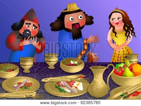 Esthers Banquet - Feast of Purim
