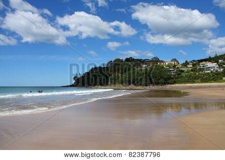 Beach In New Zealand
