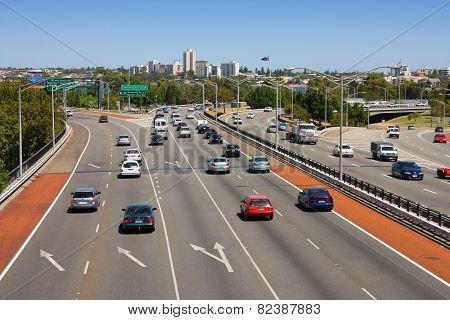 Perth Freeway Traffic
