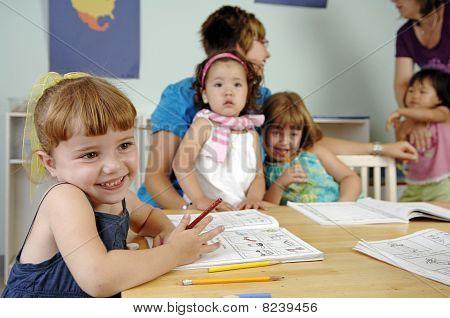 Little preschool girl
