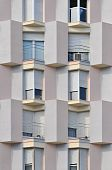Modern building detail showing windows and balconies (Barcelona - Catalonia - Spain). poster