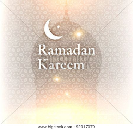 Ramadan Kareem. Ramadan Greeting Card Background. Holiday Design.