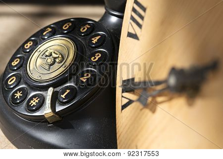 Clock And Phone