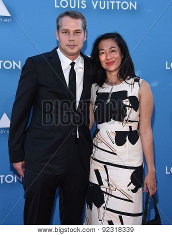 LOS ANGELES - MAY 30:  Shepard Fairey & Amanda Fairey arrives to the MOCA Annual Gala 2015  on May 30, 2015 in Hollywood, CA