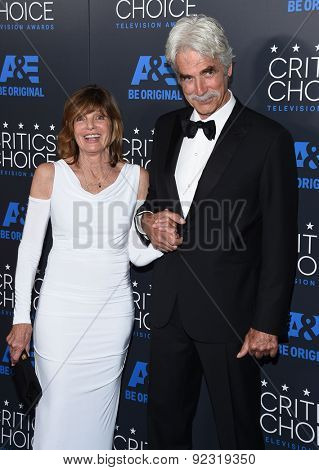 LOS ANGELES - MAY 31:  Sam Elliott & Katharine Ross arrives to the Critic's Choice Television Awards 2015  on May 31, 2015 in Hollywood, CA
