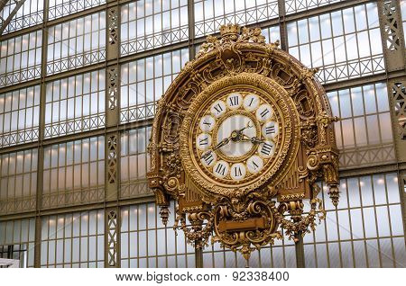 Paris, France - May 13, 2015: Musee D'orsay Clock (orsay Museum) In Paris